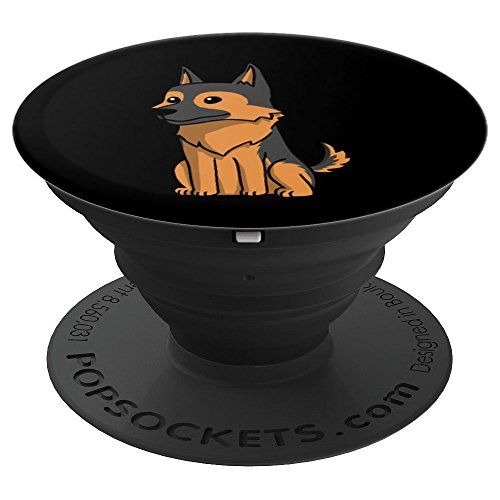 (Funny German Shepherd Dog Cute Cartoon - PopSockets Grip and Stand for Phones and)
