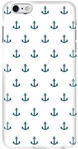 Stylizedd Apple iPhone 6 Plus Premium Slim Snap case cover Gloss Finish - Anchor blue I6P-S-194