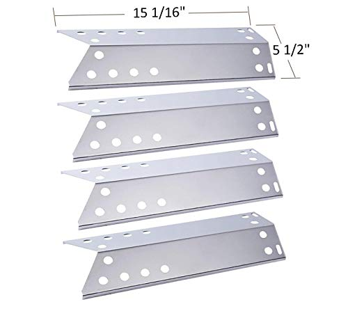 BBQ funland SH6781 (4-pack) Stainless Steel Heat Plate for Kenmore Sears, Nexgrill, Sunbeam Grillmaster, Lowes Model Grills