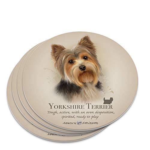 (Yorkshire Terrier Yorkie Dog Breed Novelty Coaster Set)