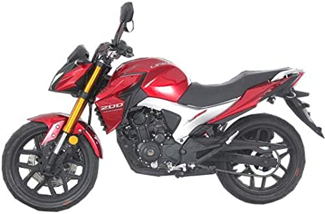 Red X-PRO 2020 Version Lifan KP 200 200cc Gas Motorcycle Adult EFI Sport Motorcycle Fuel Injection 17HP Street Motorcycle Bike Fully Assembled