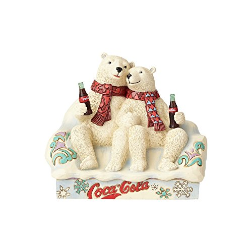 Enesco Coca-Cola by Jim Shore 4059475 Coke Polar Bear Couple Figurine