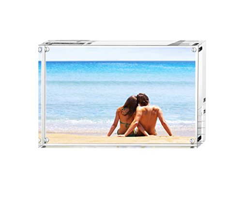 BFRed Acrylic Photo Frame 8x10 inchesMagnet Picture Frames, Double Sided Desktop Frames Magnetic Acrylic Picture Frames by BFRed