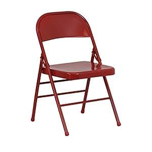 Amazon.com: Flash Furniture Serie Hércules Silla plegable de ...
