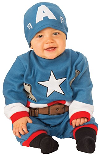 Baby Girl Iron Man Costume (Rubie's Baby's Marvel Captain America Romper Infant (6-12 Months))