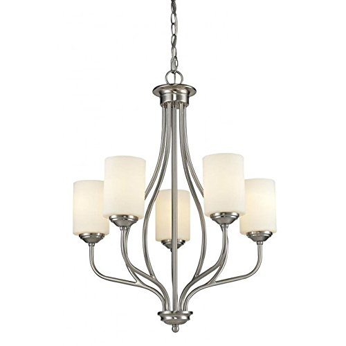 (5-Light Chandelier with Matte Opal Shade)