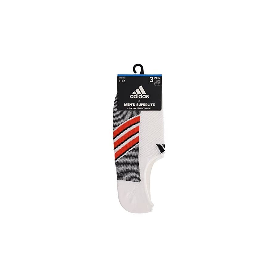 adidas Men's Climacool Superlite Super No Show Socks (3 Pack)