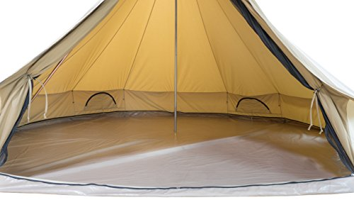 TETON Sports Sierra 20 Canvas Tent; Waterproof Bell Tent for Family Camping in All Seasons; 12-16 Person Tent