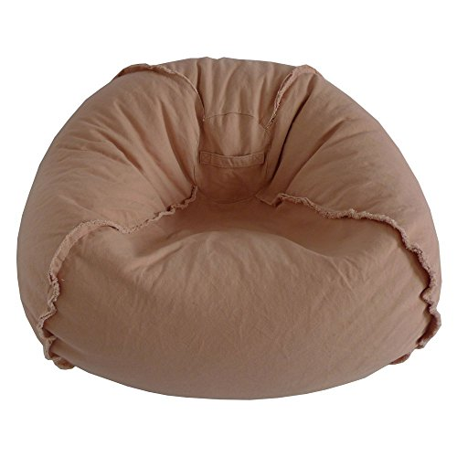 Ace Casual Furniture Large Canvas Bean Bag Chair with Exposed Seams ()