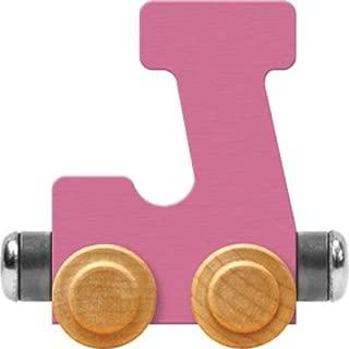 product image for Maple Landmark NameTrain Pastel Letter Car J - Made in USA (Pink)