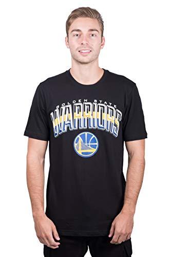 NBA Golden State Warriors Men's T-Shirt Arched Plexi Short Sleeve Tee Shirt, X-Large, Black
