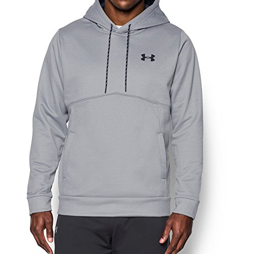 - Under Armour Men's Armour Fleece Icon Solid Hoodie, True Gray Heather/Black, 3X-Large Tall