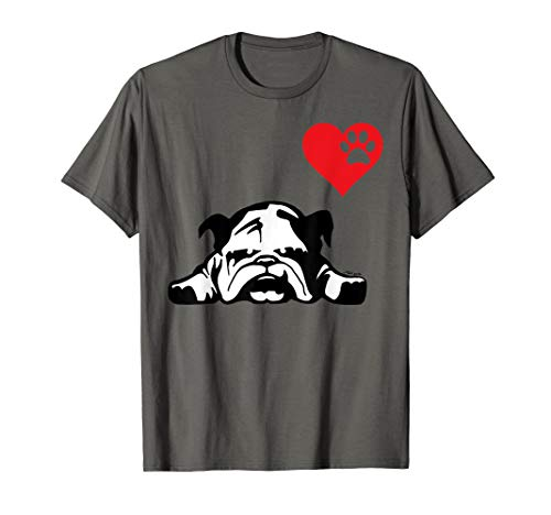 (English Bulldog TShirt I LOVE MY ENGLISH BULLDOG DOG)