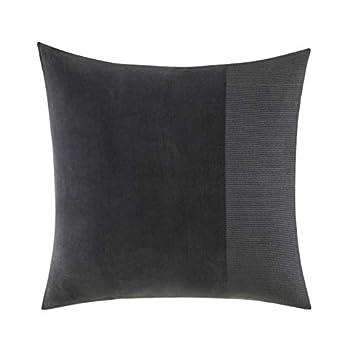 Image of Home and Kitchen Vera Wang Shadow Stripe, Euro Sham, Charcoal