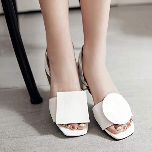 Rcool Zapatos de tacón zapatos de tacón alto mujer zapatos de tacón transparentes,Sandalias Tacones altos Sandalias sin cordones Sandalias romanas ...