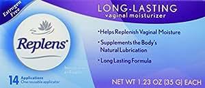 Replens Long Lasting Vaginal Feminine Moisturizer - 14 Applications and One reusable applicator 1.23 OZ ea