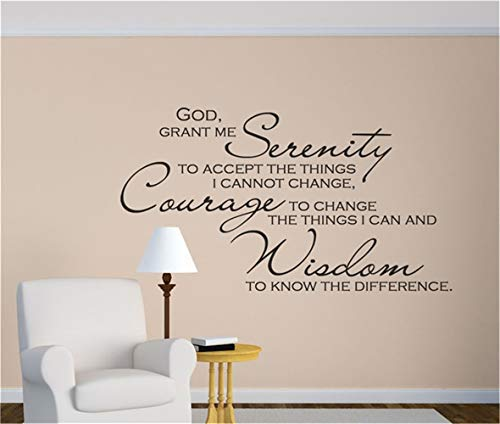 25 Home Decor Room Wall Stickers Quotes God Grant Me Serenity Prayer - Christian Wall Decals