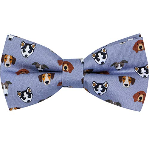 Best Man Dog - OCIA Cotton Cute Pattern Pre-tied Bow Tie Adjustable Bowties for Mens & Boys Dogs Faces