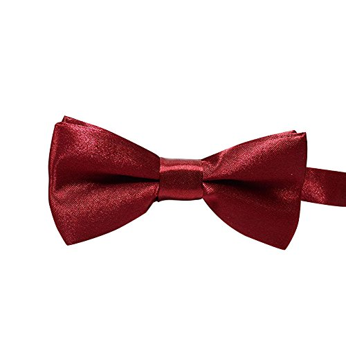 (Fashion Cute Dog Puppy Cat Kitten Pet Toy Kid Bow Tie Necktie Clothes Kitten Puppy Pig Solid Color Collars Dog Pet Sweet Necklace Pet Memorial Cat Dog Charms Pet Cat Jewelry (Wine Red, 510cm))