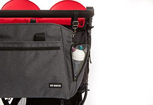 Baby Monsters Easy Twin - Bolso para silla de paseo, color negro: Amazon.es: Bebé
