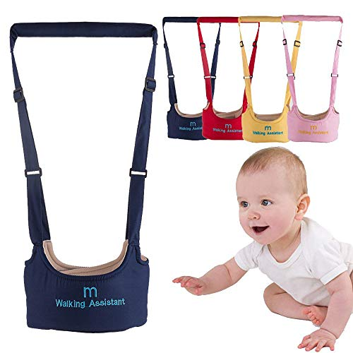Baby Toddler Walking Assistant Harness Baby Walking Learning Belt Helper Walker Wings Safety Walking Harness Walker for Baby 6-24 Months (Navy)