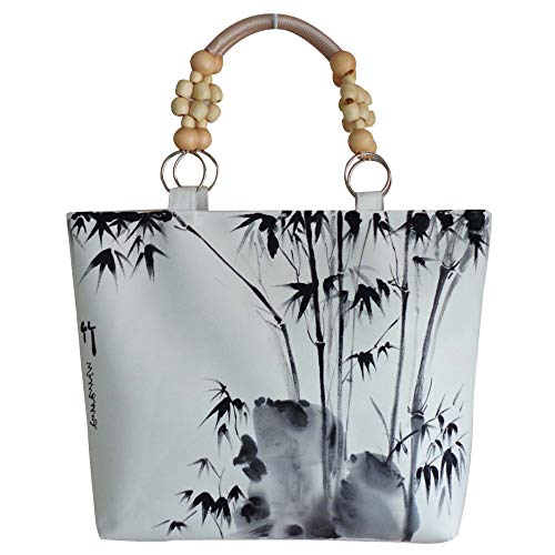 Tracolla Bag Mano Di Cinese Borsa Dipinto Dipinta Stile White A Moda Casuale Etnico Caratteristiche dxBCeo