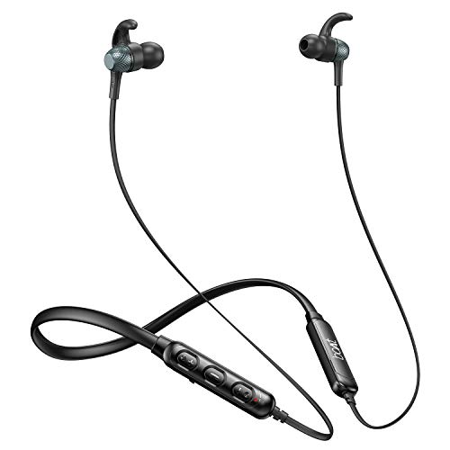 boAt 225 Wireless Earphone with Integrated Controls, Mic, IPX4 Water & Sweat Resistance, Up to 8H Playtime, QUALCOMM chipset, Enhanced Bass, Secure Fit Earhooks and Dual Pairing