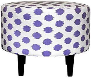 Sole Designs Jo Series Sophia Collection Round Upholstered Ottoman