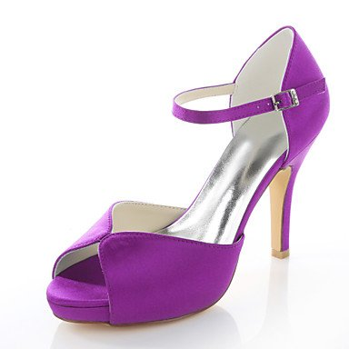 Sandals Sandals Red Wedding Black Shoes Satin Purple Stretch Peep Toe Women'S Dress Purple Blue AwtaqxFHWW