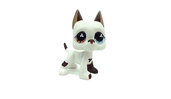 Authentic Littlest Pet Shop Great Dane White Puppy Dog LPS #750 #577 Collection