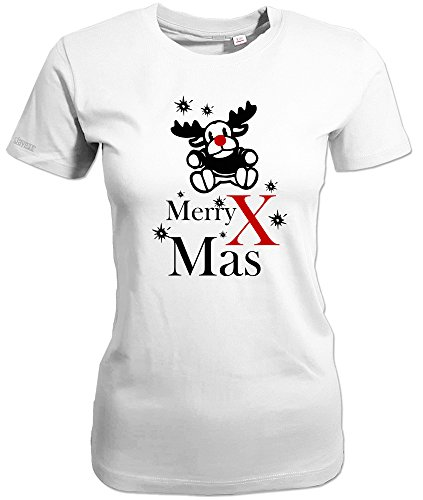 MERRY X MAS - MERRY CHRISTMAS - WEIHNACHTEN - WINTER - WOMEN T-SHIRT Weiß wPygds