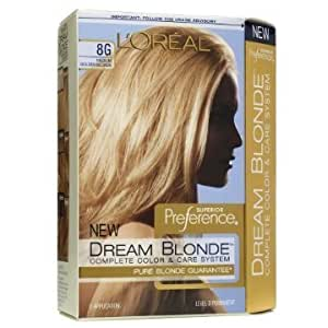 L'Oreal Superior Preference Dream Blonde Hair Color, 8G Medium Golden Blonde by L'Oreal Paris
