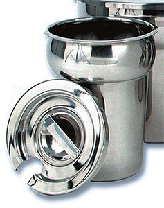 Royal Industries Notched Lid for Vegetable Inset,  6 1/2'' Cover, Silver