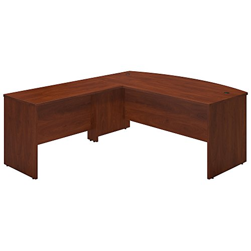 Bush Business Furniture Series C Elite 72W x 36D Bowfront Desk Shell with 48W Return in Hansen - Front Executive Bow Desk