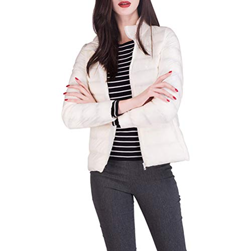 Jacket with Weight Breathable Stand Women's White Water Zhhlinyuan Short Light Down Down Packable Collar Ultra Coat Resistant xTzAw4qU
