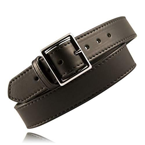Boston Leather 6505L 3 38 Black Basketweave 1.75
