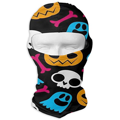 Windproof Balaclava, Pumpkin Ghost Cover Face Mask for Cycling Skiing White ()