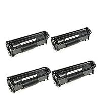 4 Pack SaveOnMany ® HP12A Q2612A HP 12A New Compatible Black BK Q2612 Toner Cartridge For HP LaserJet 1010 1012 1018 1020 1022 1022n 1022nw 3015 3020 3030 3050 3052 3055 M1319 M1319f