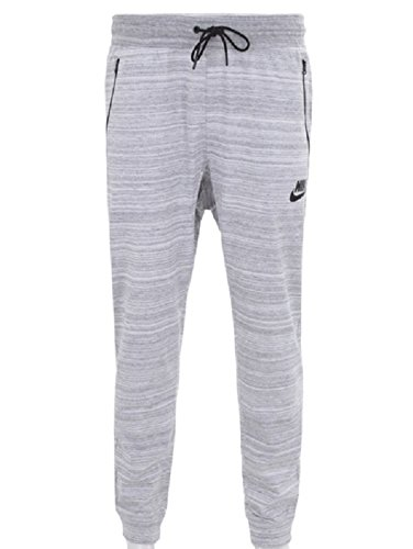 Nike Mens AV15 Jogger Sweatpants White/Heather/Black 918322-100 Size Medium by NIKE