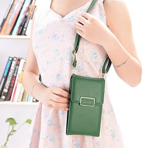 Clutch Bags Dark Bag Crossbody Pouch Wallet Shoulder Coin Phone Green Cell Purse Cellphone Evaliana Smartphone 7xfFFw