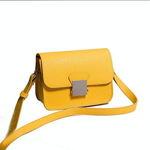 Small Lock Small Yellow Single Yellow Square Bag Cross Handig Shopping Lady Wide Bag Shoulder Bag Oblique Schoudertas EqT56xZ