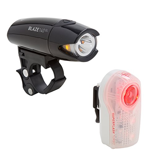 Planet Bike Blaze 140 SL & Superflash Turbo bike light set by Planet Bike