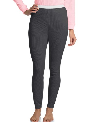 Hanes Women's X-Temp Thermal Underwear Bottoms, Black, X-Large