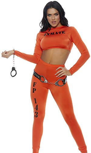 Cuff me Up Inmate 2pc. Costume Set Orange ()