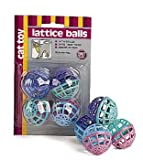 ETHICAL PRODUCTS 773073 4-Pack Lattice Balls Cat Toy, My Pet Supplies