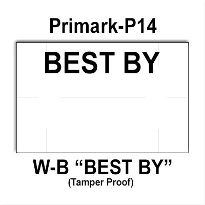 192,000 Primark P14 ''BEST BY'' White General Purpose Labels to fit the Primark P-14 Price Guns. by Infinity Labels