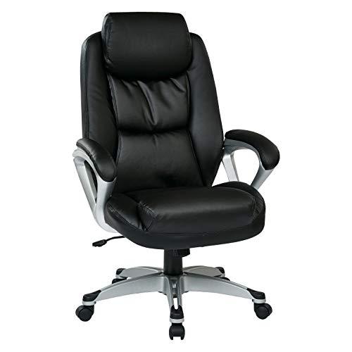 Work Smart ECH89186-EC3 Executive Chair, Black