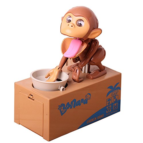 Virtuous Cool Gadgets Monkey Stealing Money Box Coin Bank
