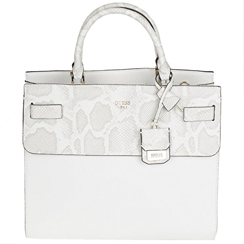 Guess Cate Large Satchel pv621607 – Bolso 34,5 x 30,5 x 13 cm Bone Multi