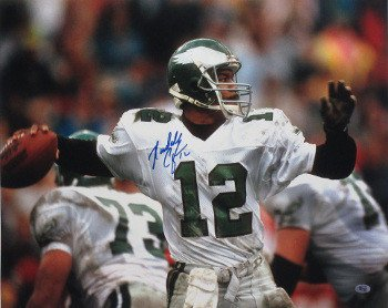43911127789 Randall Cunningham Signed Autograph Philadelphia Eagles 16x20 Photo  12  white jersey-horizontal - Authentic